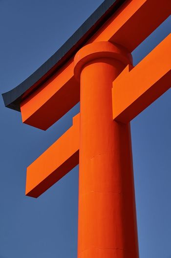 Low Angle View Of Torii Gate