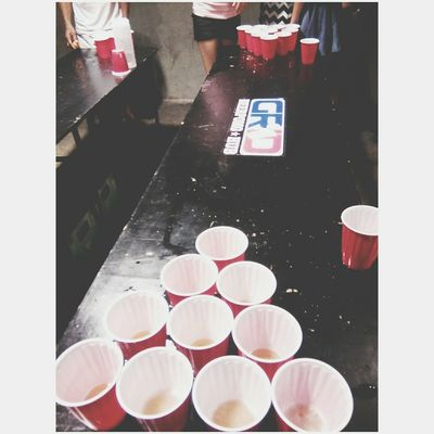 Chillin last night. Beerpong for our happiness Beerpong Beertime Drinking Beer