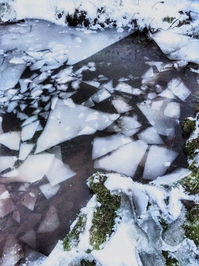 Layers And Textures Patterns In Nature Tranquil Scene Winter Cold Temperature Snow Ice Nature Beauty In Nature Weather Frozen Outdoors Close-up Water Cold Perspective (null)Scenic Shapes In Nature  Natural Condition Fractals Power In Nature Abstract Nature Triangle Weathered