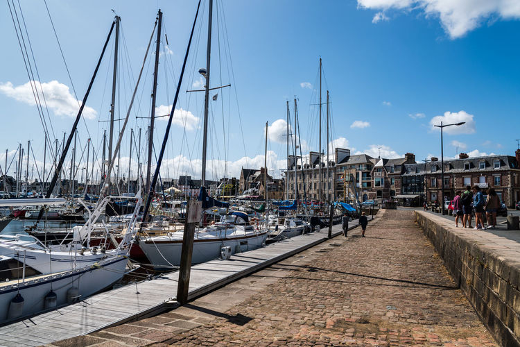 The port of Paimpol Architecture Built Structure Day Brittany France Europe Travel Sightseeing Paimpol Marina Port Nautical Vessel Transportation Mode Of Transportation Sky Water Harbor Moored Sailboat Nature Mast Cloud - Sky Pole Pier Incidental People Sea Outdoors Yacht