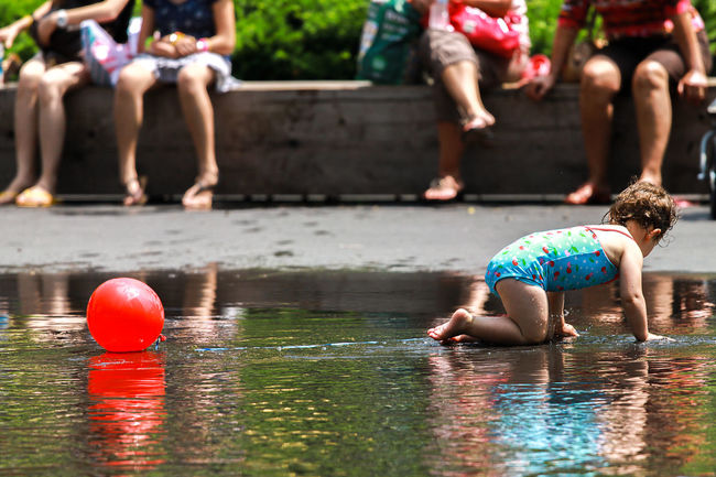 Fun outdoors with kids Kids Being Kids Looking Away Playing With Water Reflection Childhood Day Fun Kid Playing Water Leisure Activity Lifestyles Outdoors Real People Sunset Swimming Pool Togetherness Vacations Water