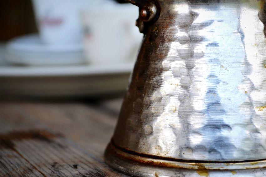 Turkish Coffe Pot. Cezve Antique Handmade Cezve Kahve Cezve Turkishcoffee Close-up Antique No People Indoors  Day