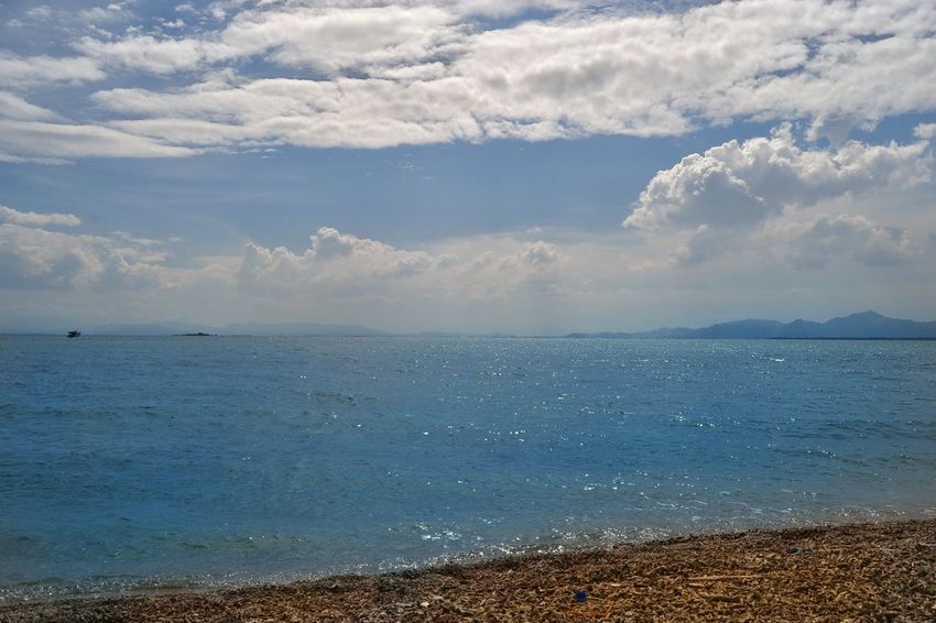 Beach Water Landscape Horizon Over Water Nature Cloud - Sky Beauty In Nature Blue Sea Sand Vacations Viewscape Islandscape
