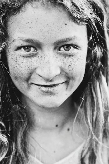 Portrait Freckle Beauty Youth Beautiful People Real People Freckled Girl Close-up Beautiful Girl Blackandwhite Black & White Black And White Smiling Freckles Teenager Teenage Girls Teen One Girl Only Looking At Camera Lifestyle People Youth Of Today Fashion Eyes Eyes Are Soul Reflection EyeEmNewHere Art Is Everywhere Resist The Portraitist - 2017 EyeEm Awards BYOPaper! Black And White Friday This Is Strength