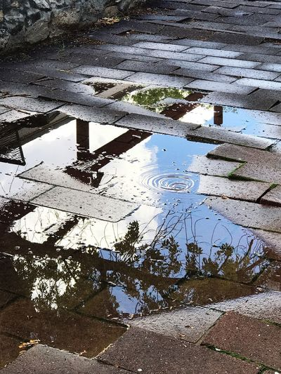 Puddle Water Day Outdoors High Angle View No People Nature EyeEm Best Shots The Week On EyeEm Angles And Lines