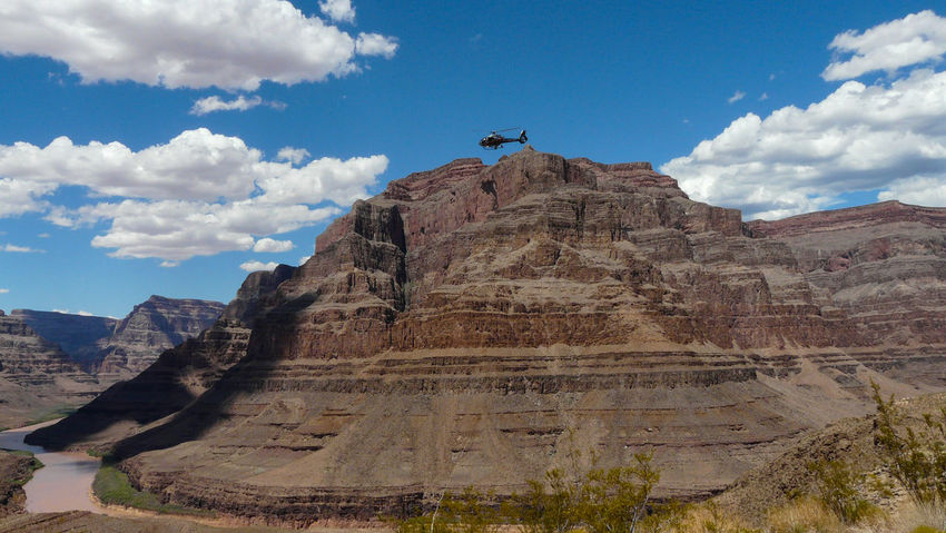 Grand Canyon Helicopter Disaster Architecture Beauty In Nature Cloud - Sky Day Landscape Low Angle View Mountain Nature No People Outdoors Physical Geography Scenics Sky Travel Destinations Perspectives On Nature Go Higher