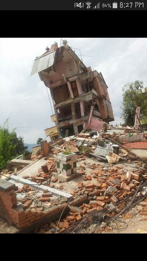 Earthquake House Destroyed. Pray For Nepal 🙏🙏 Make Magic Happen To Us