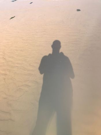 Shadow man Shadow Real People Nature Focus On Shadow One Person Sand Land