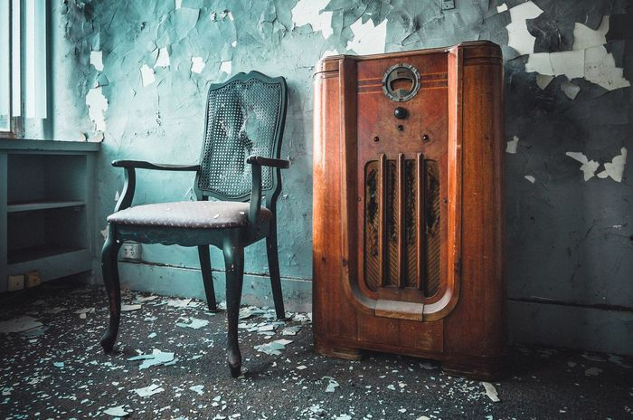 Urban Exploration Urbex No People Old Wall - Building Feature Indoors  Door Weathered Abandoned Wall Chair Absence