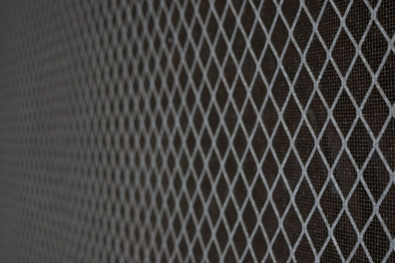 Close-up Metal No People Pattern Screen Door Bokeh