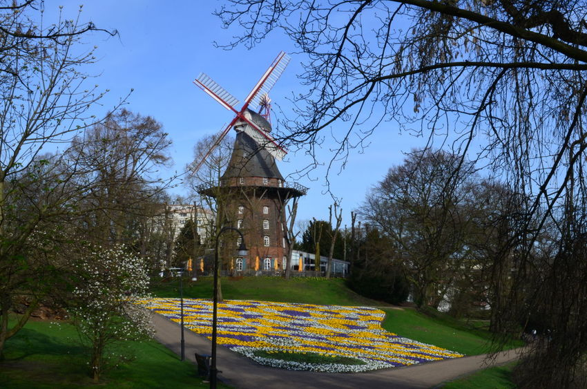 Mühle am Wall Windmill Traditional Windmill Outdoors Architecture Bremen Germany