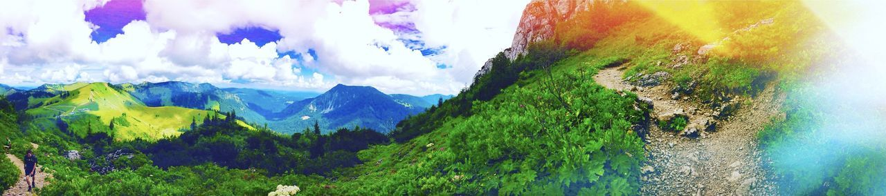 Beauty In Nature Cloud - Sky Dahoamisdahoam Heimatliebe Idyllic Landscape Mountain Natural Landmark Nature Non-urban Scene Panoramic First Eyeem Photo Done That.