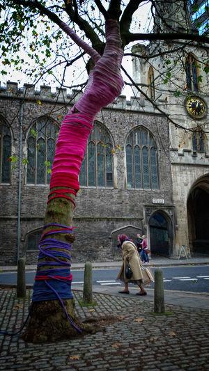 Bristol City Knitting One Woman Only Outdoors Travel Destinations Urban Wool Yarn Bombing Street Photography Urban Geometry