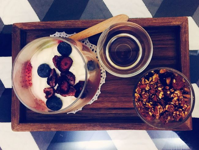 Live For The Story Food And Drink Yogurt♡♡♡♡♡ Seem Like Healthy Sorella Cafe Delicious ♡ Pop Up Indulgence No People Rest & Relax Close-up Little Art Fruit Oat Honey Desert Beauty