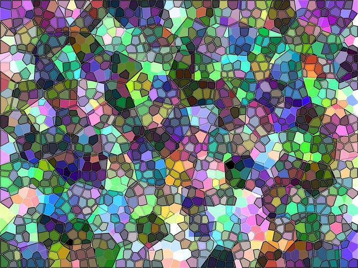 Full frame shot of multi colored pattern on floor