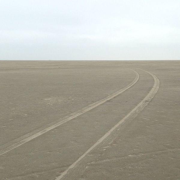 Road to nowhere. Tiretracks Beach Landscape Nowhere Ocean Sand Strand Northsea Nordsee Stpeter Reifenspuren
