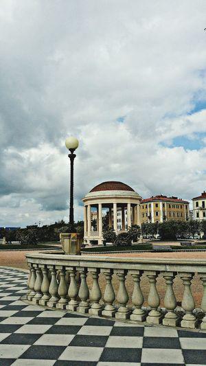 Livorno Livorno Italy Terrazza Mascagni Gazebo Sea And Sky Italia Tuscany City