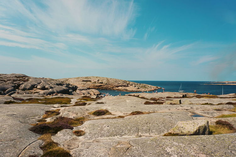 The Island of Hållö Hallo Sweden Sweden Nature Smögen Summer Water Sea Beach Sand Blue Summer Sand Dune Rock - Object Sky Horizon Over Water Rocky Coastline Groyne Rugged Coastline Pebble Beach Coastal Feature Calm Ocean Seascape Lighthouse
