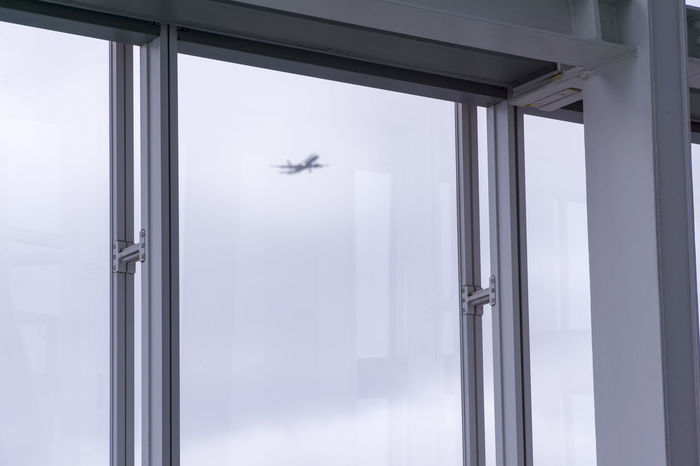 Airplane Architecture Blurry Blurry Vision Day Distant Flying Indoors  See It Coming Visionary Window