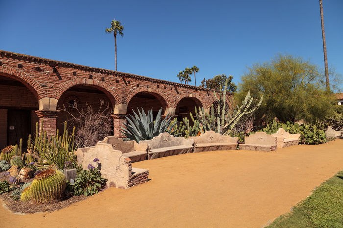 San Juan Capistrano, CA, USA —September 25, 2016: The Mission San Juan Capistrano in Southern California, United States. Editorial use only. America Architecture Bells California Garden Landmark Mission San Juan Capistrano Ruins San Juan Capistrano San Juan Capistrano Mission United States