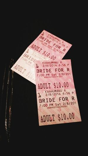Bride For Rent. Movie Date. Early Valentine's Date