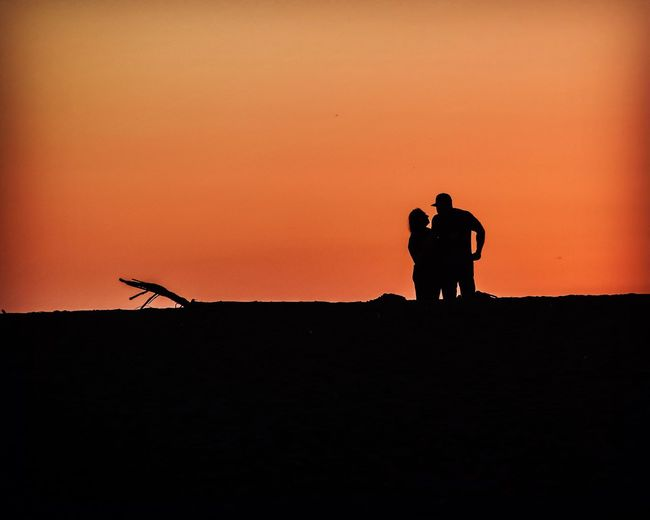 Silhouette Real People Sunset Two People Beauty In Nature Sonoma Coast Lets Stay Together Forever
