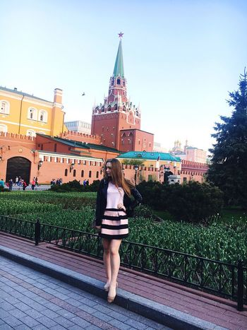 Beautiful Loveis Goodday Moscow Pretty Girl Blond Hair Long Hair Beauty Hello World Popular Photos Popular ❤❤❤ 😍😌😊 City Beautiful People Building Exterior Architecture Built Structure Full Length Rear View Leisure Activity City One Person Sky Clear Sky Lifestyles red square ❤❤❤