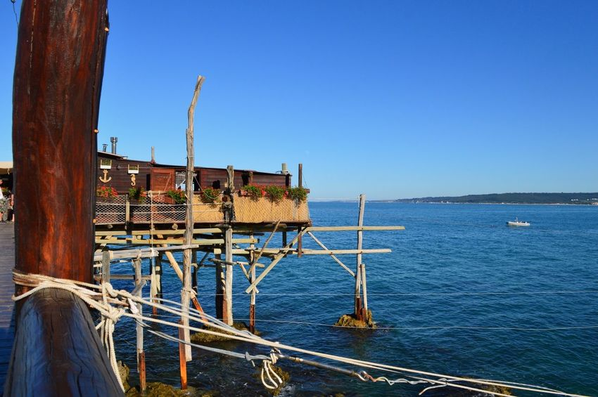 Adriatic Built Structure Coastline Fishing Fishing Time Italy Sea Tourism Tranquil Scene Tranquility Water
