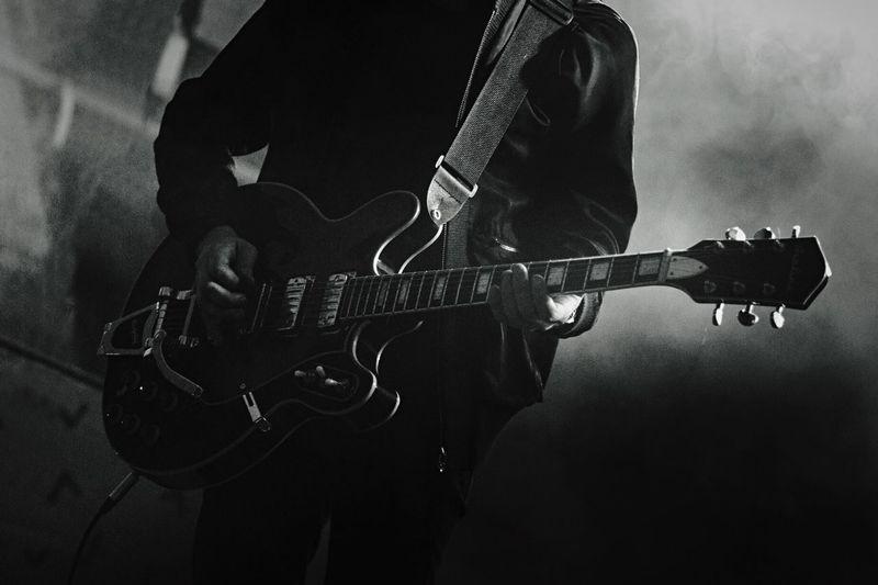 Guitar in music concert