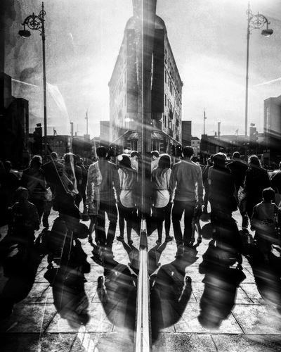 The Street Photographer - 2016 EyeEm Awards Shadows Reflection Dublin Ireland Parnell Black And White