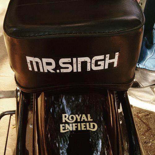 Gaddi utte Mr Singh likhwaya👳 Gaddi Bullet Bult Royalenfield Chennai Velachery GNC Dugdugdug