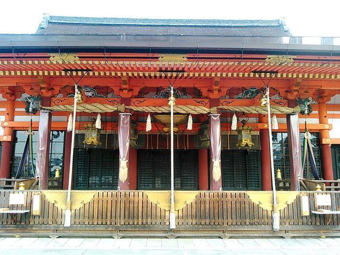 八坂神社本殿、節分祭の朝。まだ人は殆どいない。 京都 Kyoto 八坂神社 Yasaka-jinja Shrine Yasaka Shrine 神社 Shrine 本殿