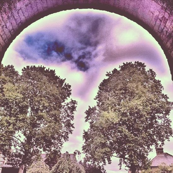 Psychedelic Psychedelicart Walworth Arch archway walworth trees pinksky brick bricks southlondon southlondoncrew