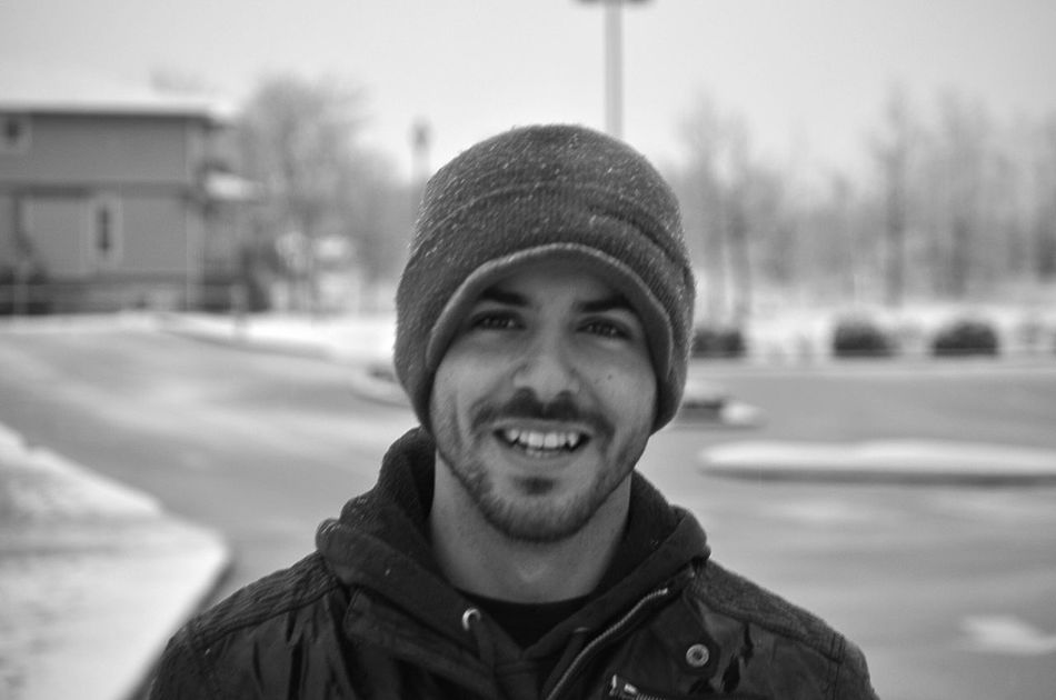 Faces Of EyeEm People Photography People Blackandwhite Photography Black & White Wintertime All Smiles Smile