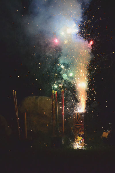 Fireworks Celebrations Astronomy Burning Firework - Man Made Object Galaxy Glowing Illuminated Milky Way Night No People Outdoors Sky Smoke - Physical Structure Star - Space