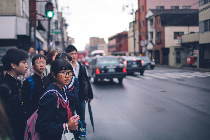 City Day Japan Japan Photography Japan Scenery Japanese  Japanese Culture Japanese Girl Japanese Style Looking At Camera Outdoors People Portrait Real People Street Togetherness Two People