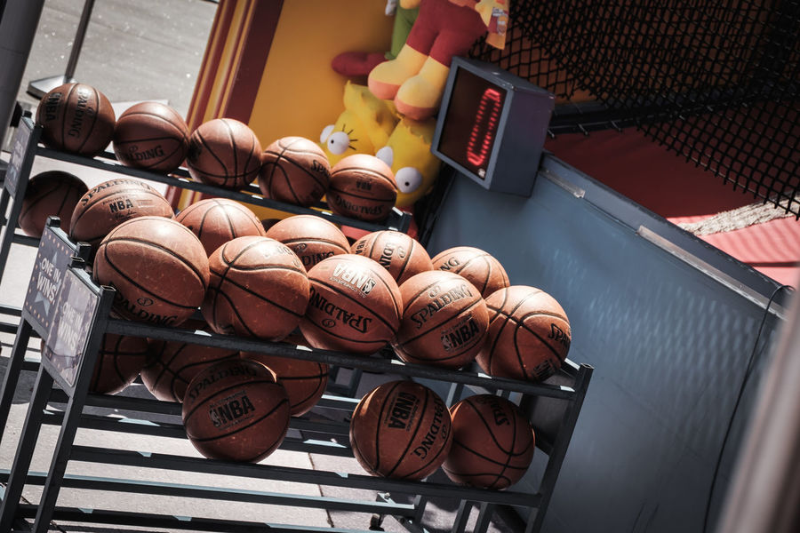Basketball Basketball Game Basketball Hoop California Fun NBA USA Ball Balls Basket Basketball - Sport Choice Communication Day Game High Angle View Indoors  No People Sport Sports Table Technology Time Wireless Technology