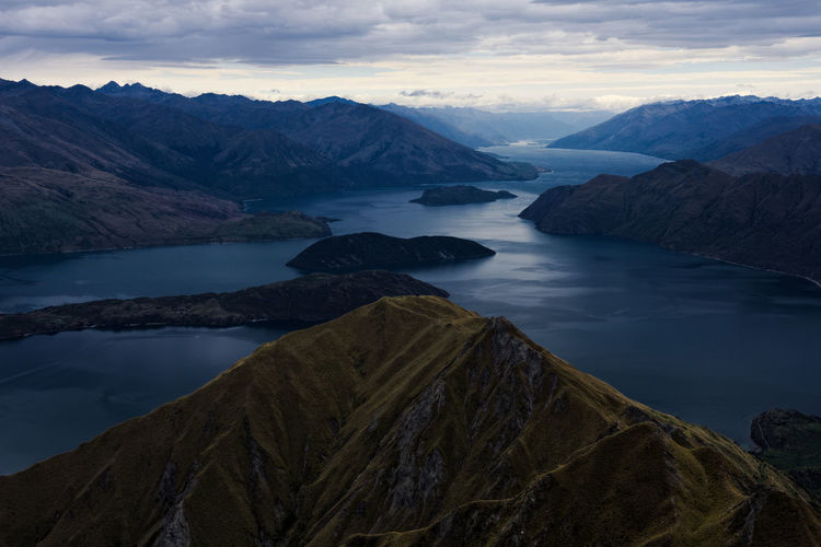 Roys peak view new zealand