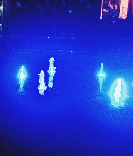 Blue Illuminated Night No People Water Nature Lighting Equipment