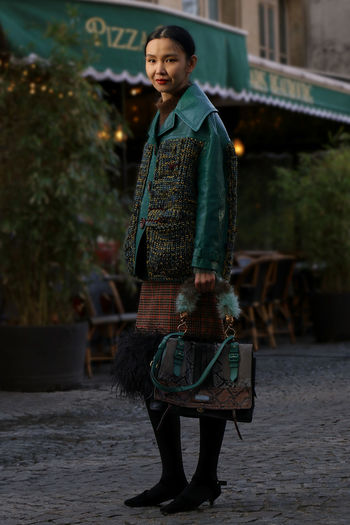 Thank you Sherry Shen. 💚 Fashion Photoshoot SebastienFremont Woman Fashionmodel  Fashionphotography Fashionstyle Frenchphotographer Full Length Handbag  Looking At Camera Luxury Luxurystyle Model One Person Outdoors Pfw Prada Pradabag Real People Sherryshen Standing Style Young Adult Young Women