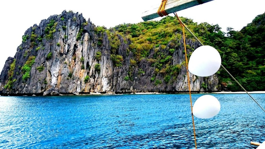 The OO Mission beautiful island of El Nido ,Palawan .. Balloons On The Boat