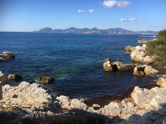 View of the Estérel Rock - Object Sea Water Scenics Nature Tranquility Day Mountain Beauty In Nature No People Outdoors Horizon Over Water EyeEmNewHere