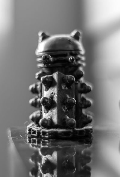 A Dalek. Dalek Close-up Black And White Monochrome Dark Metal Doctor Who Nikon No People Indoors  First Eyeem Photo The Week On EyeEm EyeEmNewHere EyeEmNewHere