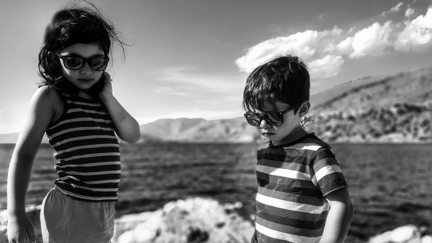 The Essence Of Summer Kids Photography Children Photography Blackandwhite Summer Views From Where I Stand Childhood Malephotographerofthemonth Blackandwhite Photography Summertime Sister And Brother My Kids My Children My Life The Human Condition Enjoying The View Enjoying The Sun Enjoying Life The Portraitist - 2016 EyeEm Awards Selective Focus Focus On Foreground