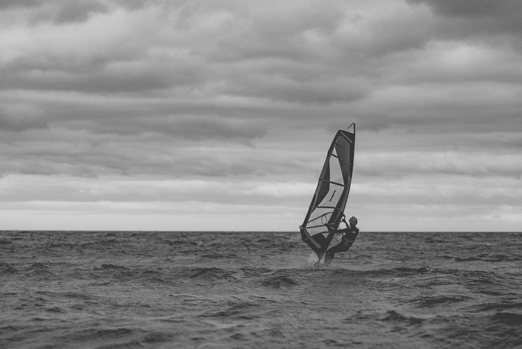 Windsurfing Windsurfer Storm Cloud Storm Extreme Sports Extreme Weather Danger Adventure Waterfront Sport Horizon Over Water Aquatic Sport Motion Sea Nida Lithuania Hobby Alone Athlete RISK Blackandwhite Windy Cloudy Sky Single It's About The Journey The Great Outdoors - 2019 EyeEm Awards My Best Photo