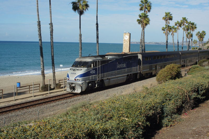 Amtrack Outdoors Surfliner Train Train - Vehicle Transportation