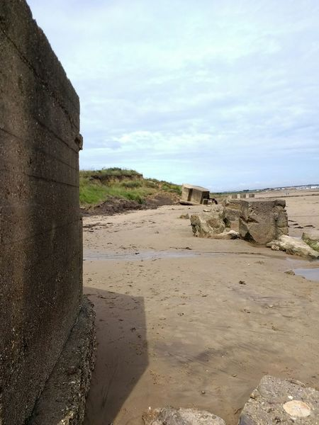 Ww2 sea defences on fraisthorpe beach , yorkshire Beach Sand Ww2 WW2 Leftovers Ww2 Defences Sea Defences Concrete Concrete Structure Fraisthorpe