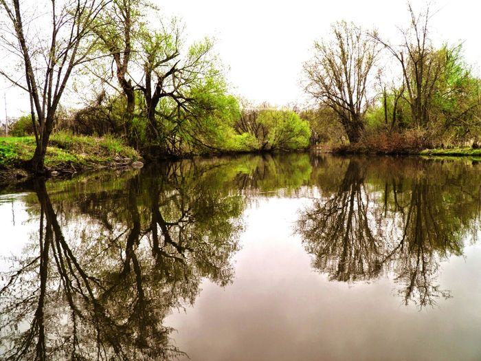 Sky And Clouds Tree And Sky Reflected Glory River Nature Photography Minnesota Nature