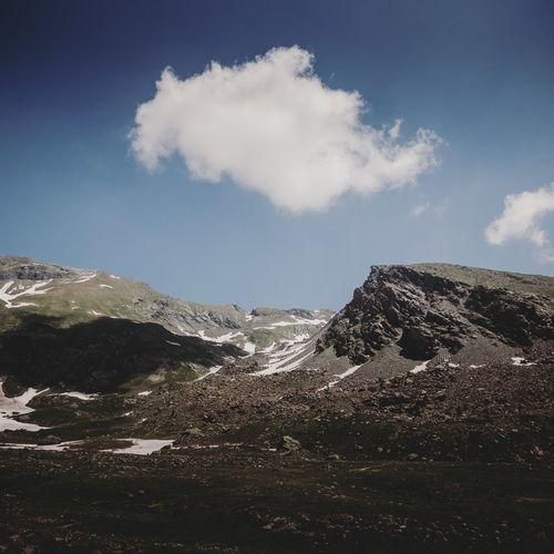 One Mountain Sky Cloud - Sky Rocky Mountains Geology
