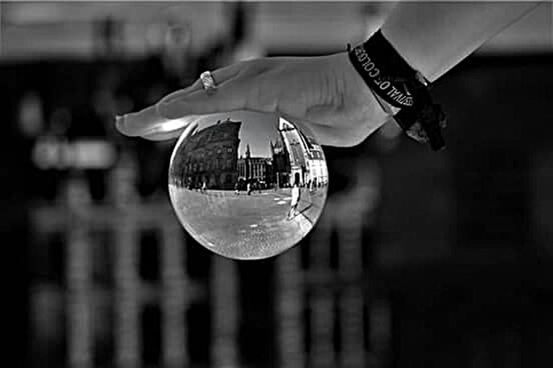 Reflection One Man Only Focus On Foreground Close-up Hanging One Person Outdoors Only Men Human Body Part Men Adults Only Human Hand People Adult Day PhotographyFrankfurt Amsterdam Girl City Amsterdamcity Glaskugel Lensball